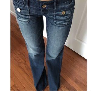 Express Low Rise Zelda Slim Wide Leg Jeans size 0